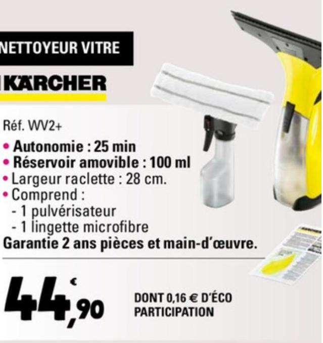 lave vitres karcher wv 50 carrefour. Black Bedroom Furniture Sets. Home Design Ideas