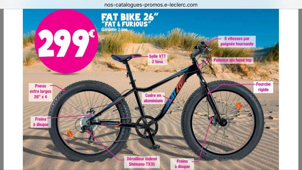 vtt 26 fat bike fat furious. Black Bedroom Furniture Sets. Home Design Ideas