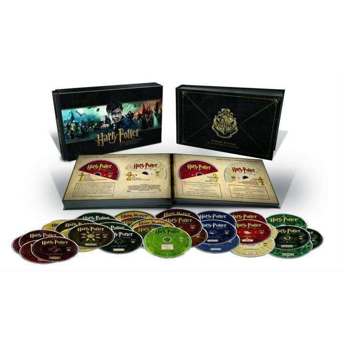 coffret blu ray harry potter l 39 int grale collection poudlard edition limit e. Black Bedroom Furniture Sets. Home Design Ideas
