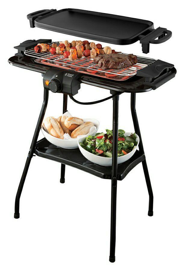 barbecue plancha lectrique 3 en 1 sur pied russell hobbs. Black Bedroom Furniture Sets. Home Design Ideas