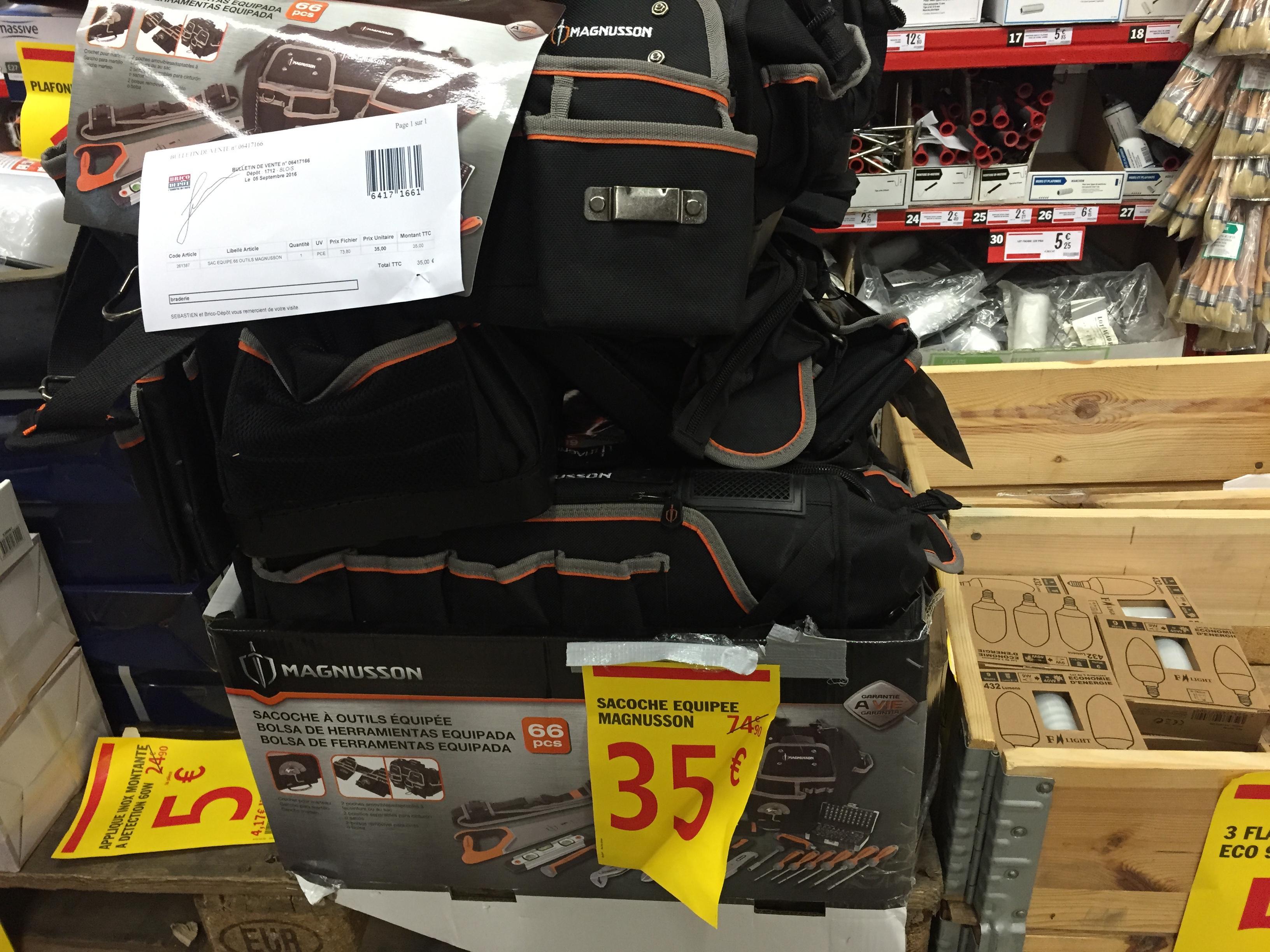 sac outils magnusson 66 pi ces. Black Bedroom Furniture Sets. Home Design Ideas