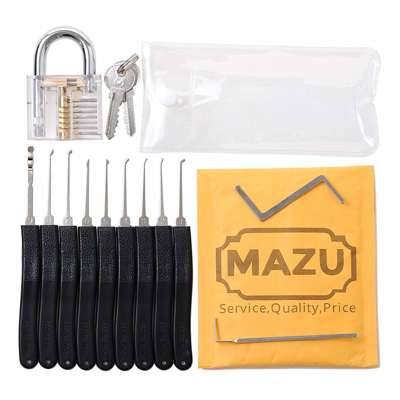 kit de crochetage de serrure mazu 11 outils cadenas d 39 entra nement. Black Bedroom Furniture Sets. Home Design Ideas