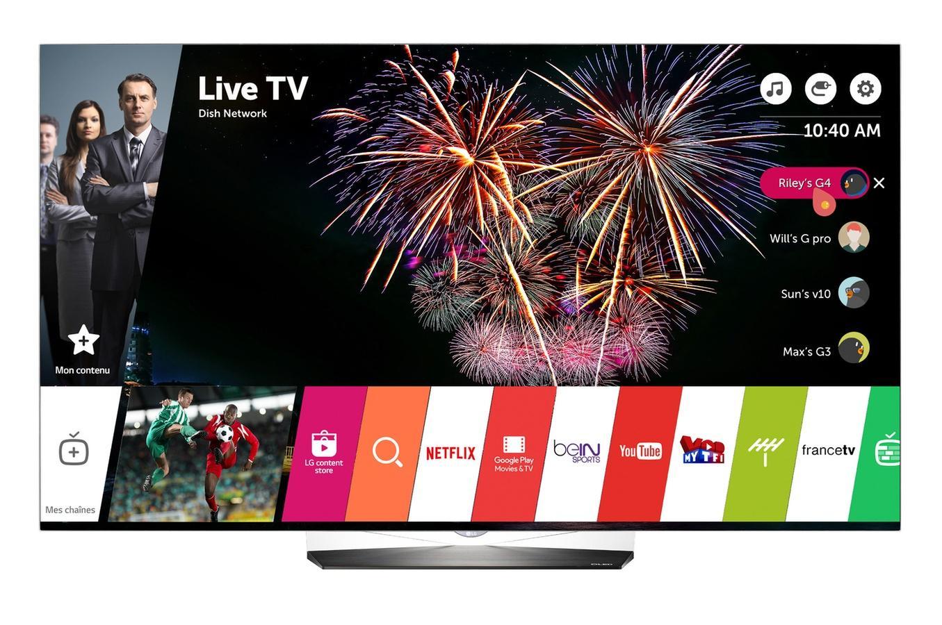 tv 55 lg 55b6v oled uhd 4k smart tv. Black Bedroom Furniture Sets. Home Design Ideas