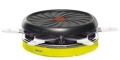 appareil raclette tefal colormania 6 coupelles avec en ticket leclerc. Black Bedroom Furniture Sets. Home Design Ideas