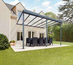 pergolas aluminium grises x 3m. Black Bedroom Furniture Sets. Home Design Ideas