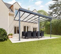 pergolas aluminium grises x 3m. Black Bedroom Furniture Sets. Home Design Ideas