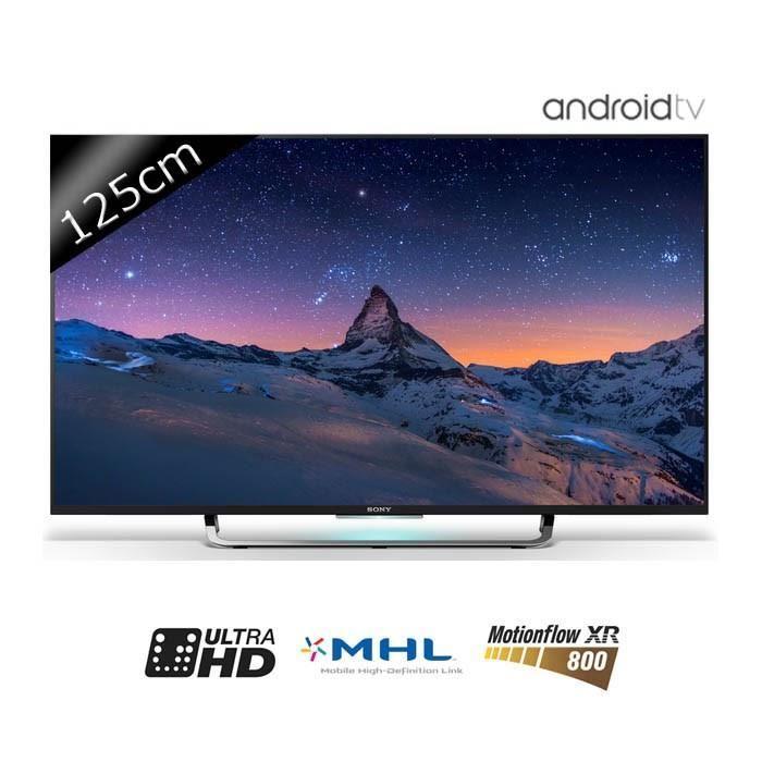 tv 49 sony kd49x8305c led uhd 4k smart tv. Black Bedroom Furniture Sets. Home Design Ideas