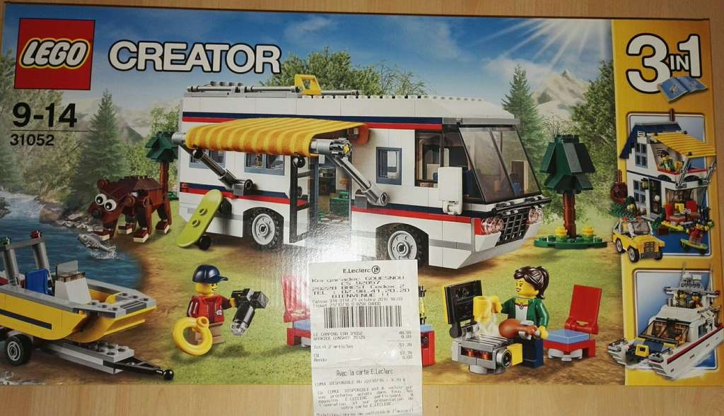 jeu de construction lego le camping car n 31052. Black Bedroom Furniture Sets. Home Design Ideas