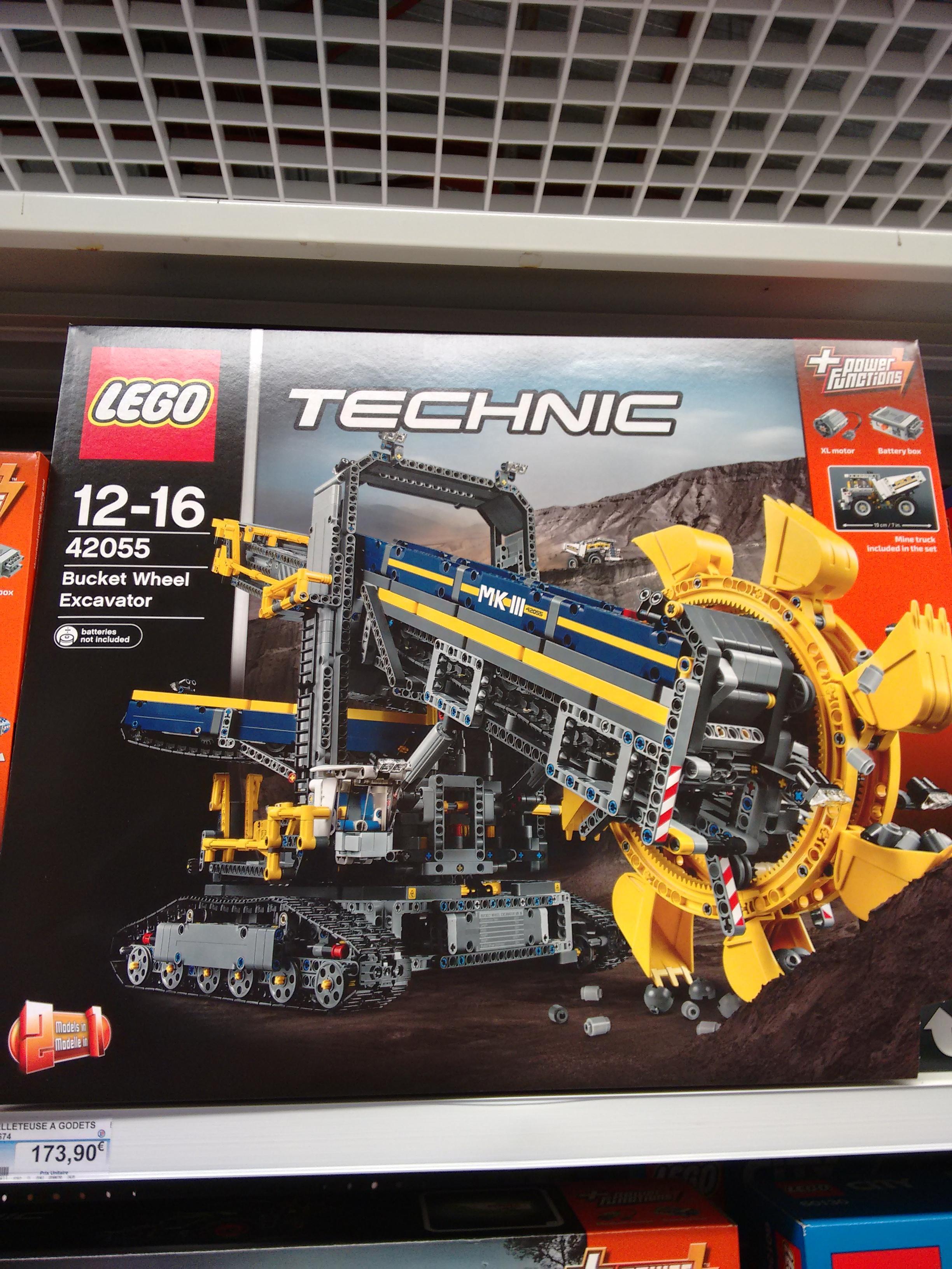 jeu de construction lego technic la pelleteuse godets n 42055. Black Bedroom Furniture Sets. Home Design Ideas