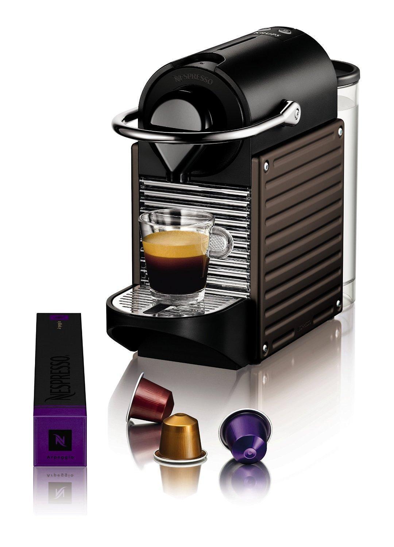 Machine à expresso Krups YY1204FD Nespresso Pixie Marron glacé ...
