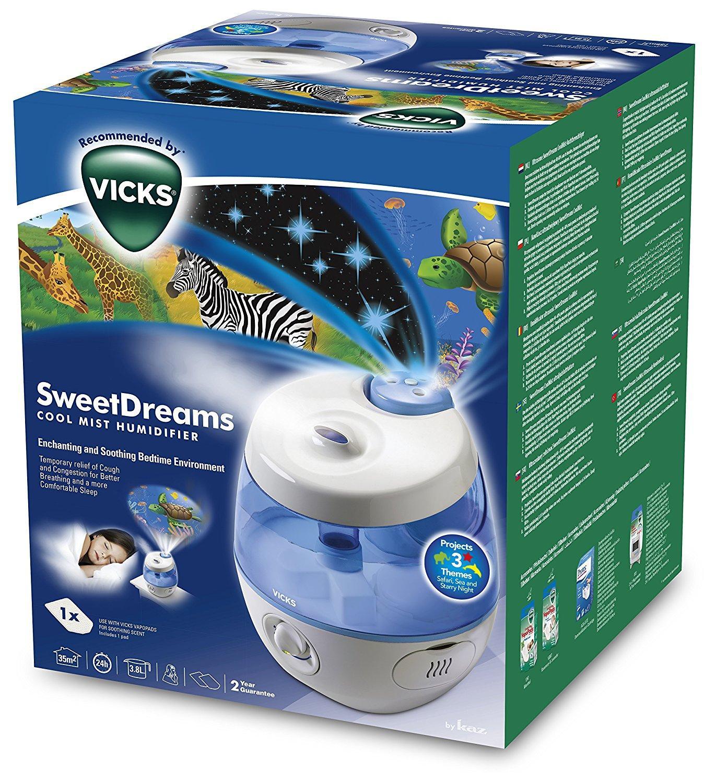 humidificateur avec projecteur d 39 image vicks sweetdreams. Black Bedroom Furniture Sets. Home Design Ideas
