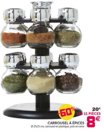 carrousel pices 10 pots en verre. Black Bedroom Furniture Sets. Home Design Ideas