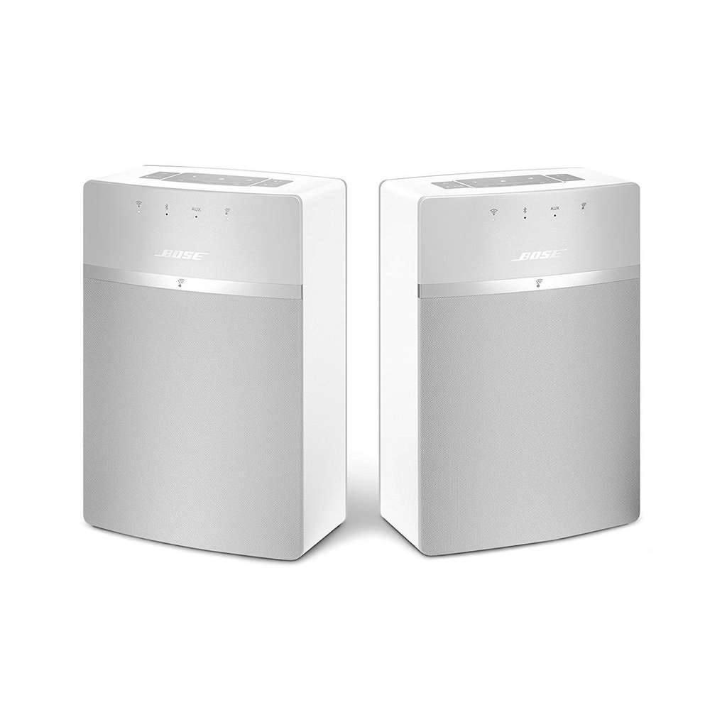pack de 2 enceintes sans fil bose soundtouch 10 blanc wi fi bluetooth. Black Bedroom Furniture Sets. Home Design Ideas