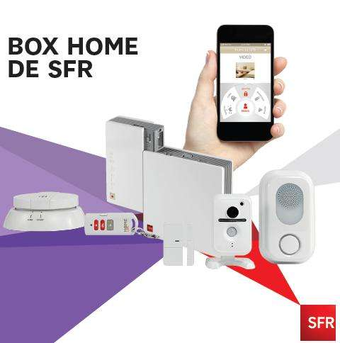 pack alarme vid o home by sfr kit quipement 29 abonnement mensuel. Black Bedroom Furniture Sets. Home Design Ideas