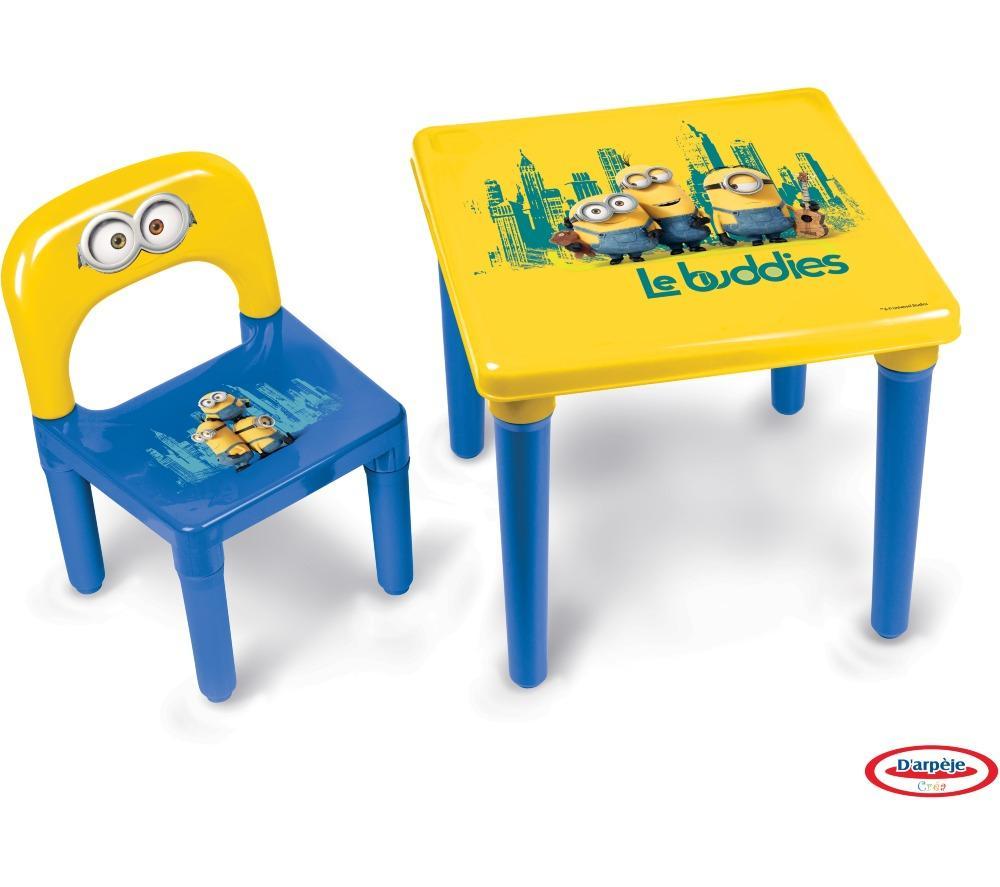 table chaise les minions hmin005 pour enfants bleu. Black Bedroom Furniture Sets. Home Design Ideas