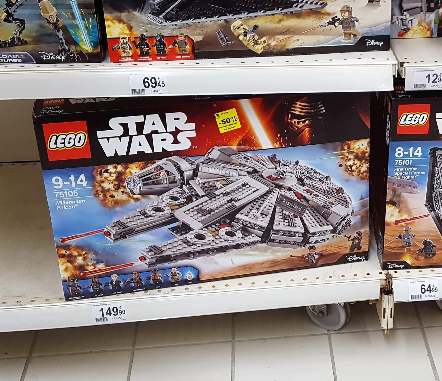 jouet lego faucon millenium star wars 75105. Black Bedroom Furniture Sets. Home Design Ideas