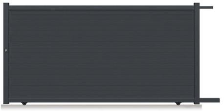 portail coulissant aluminium rioave gris anthracite 360 x 180 cm. Black Bedroom Furniture Sets. Home Design Ideas