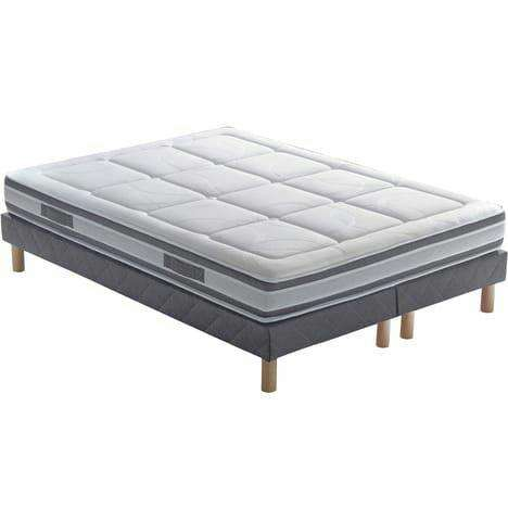 pack matelas latex 160x200cm botanica sommier 2x80x200cm aloe. Black Bedroom Furniture Sets. Home Design Ideas