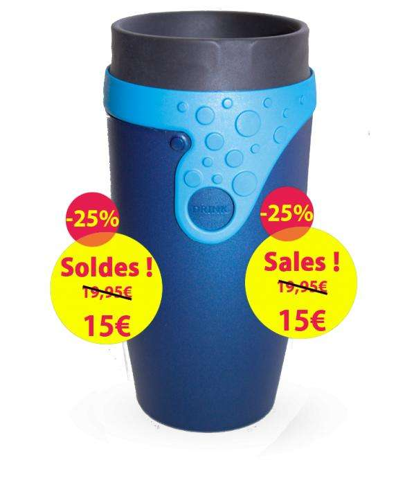 Mug isotherme twizz etanche sans couvercle plusieurs for Mug isotherme micro onde
