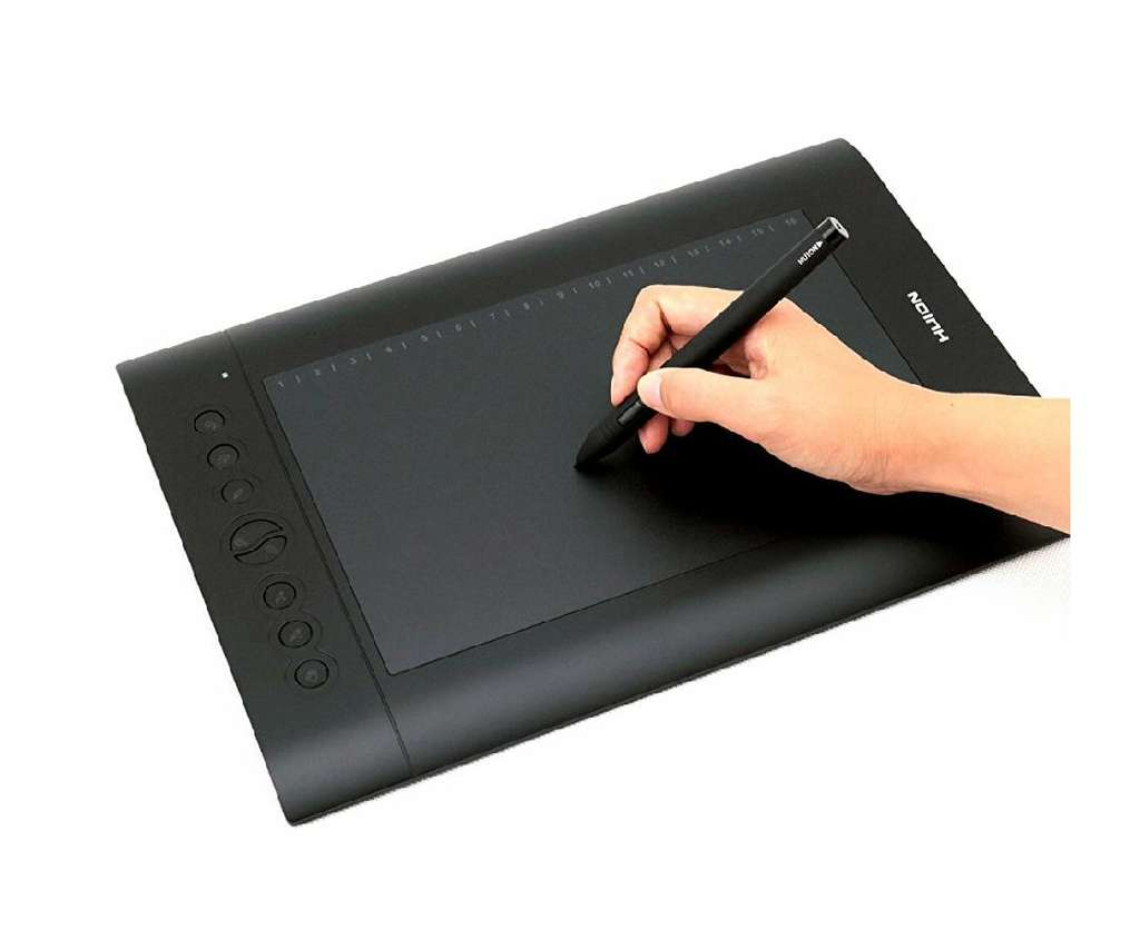 tablette graphique huion h610 pro v1 avec stylet rechargeable noir. Black Bedroom Furniture Sets. Home Design Ideas
