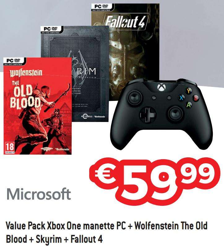 manette xbox one pc wolfenstein the old blood skyrim. Black Bedroom Furniture Sets. Home Design Ideas