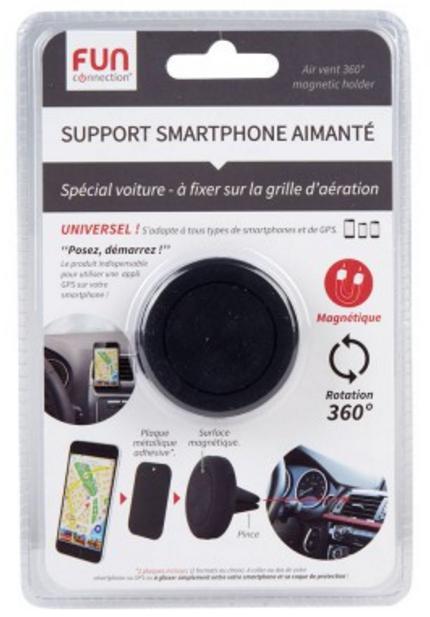 support smartphone aimant pour voiture. Black Bedroom Furniture Sets. Home Design Ideas