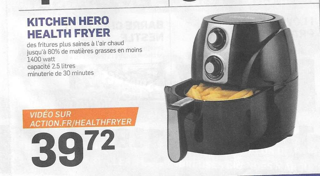friteuse sans huile kitchen hero health fryer. Black Bedroom Furniture Sets. Home Design Ideas