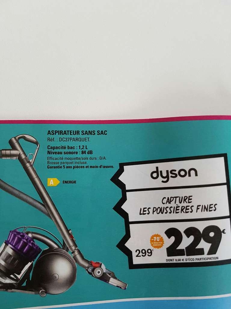aspirateur sans sac dyson dc37parquet. Black Bedroom Furniture Sets. Home Design Ideas