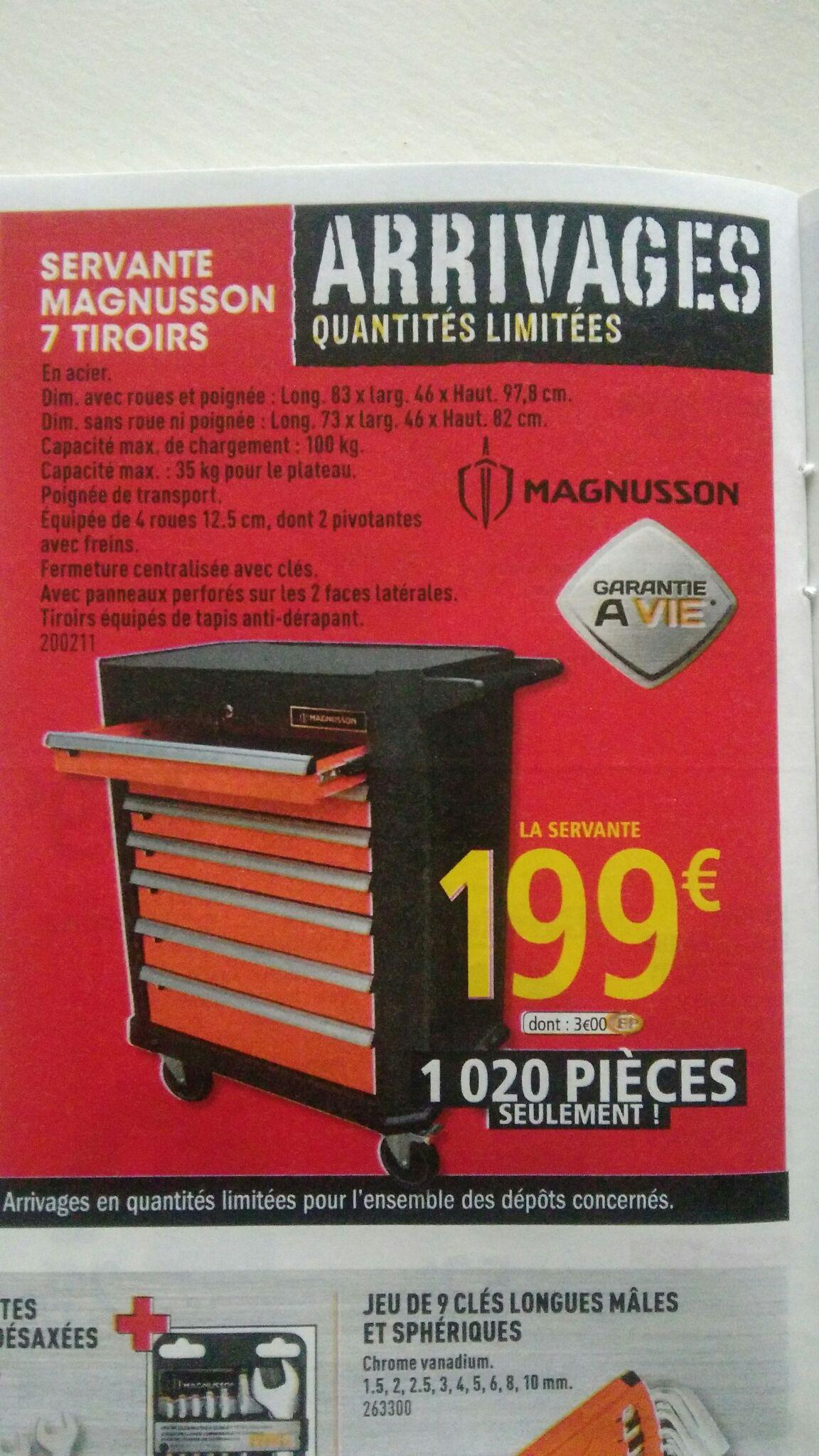 Servante d'atelier Magnusson 83x46x97 - Dealabs.com