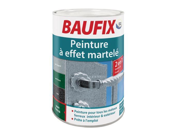 pot de peinture pour m taux effet martel baufix gris noir ou vert 75 cl. Black Bedroom Furniture Sets. Home Design Ideas