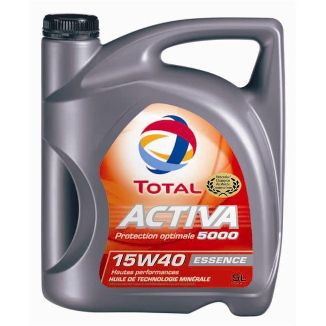 huile moteur total activa 15w40 5l essence ou diesel plusieurs variantes avec 8 5 en. Black Bedroom Furniture Sets. Home Design Ideas