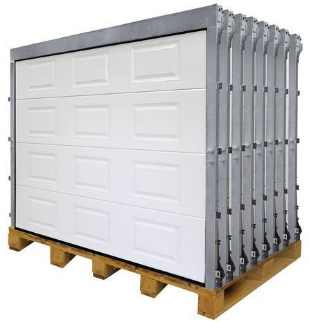 porte de garage sectionnelle motorisée 200x240 blanche ou grise ép