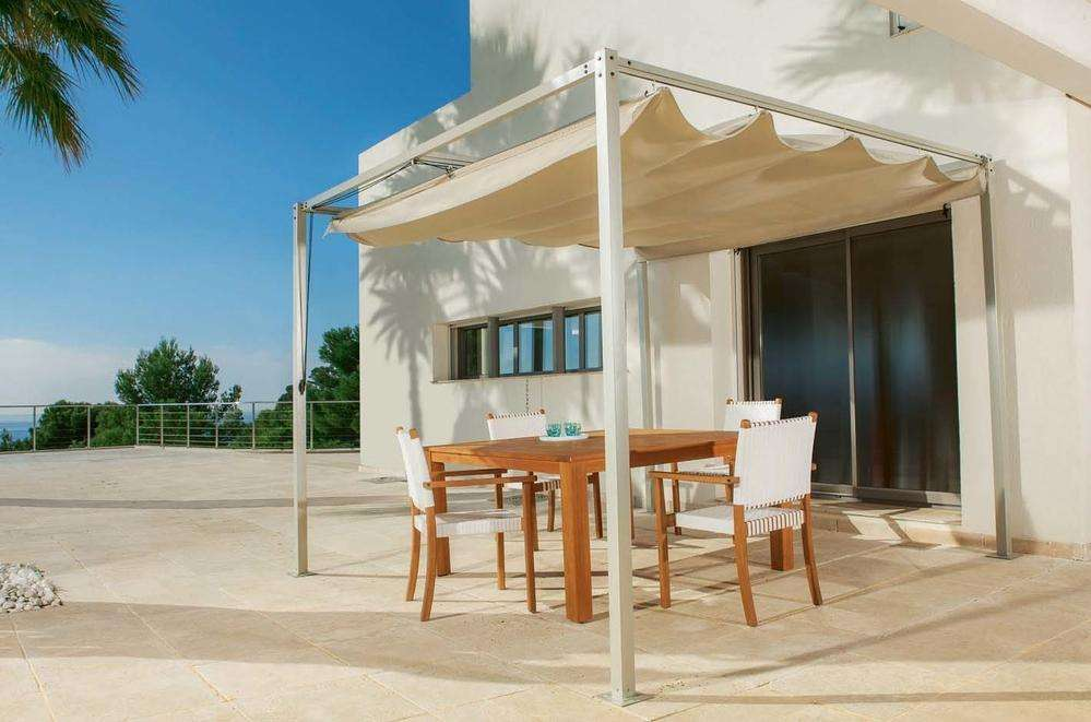toile de pergola coulissante hartman napoli cast aluminium pergola 3m x 3m hayes garden world. Black Bedroom Furniture Sets. Home Design Ideas