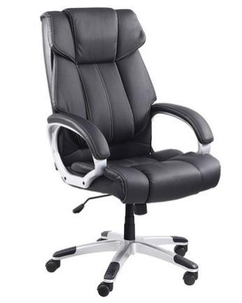 fauteuil de bureau jupiter blanc gris ou noir. Black Bedroom Furniture Sets. Home Design Ideas