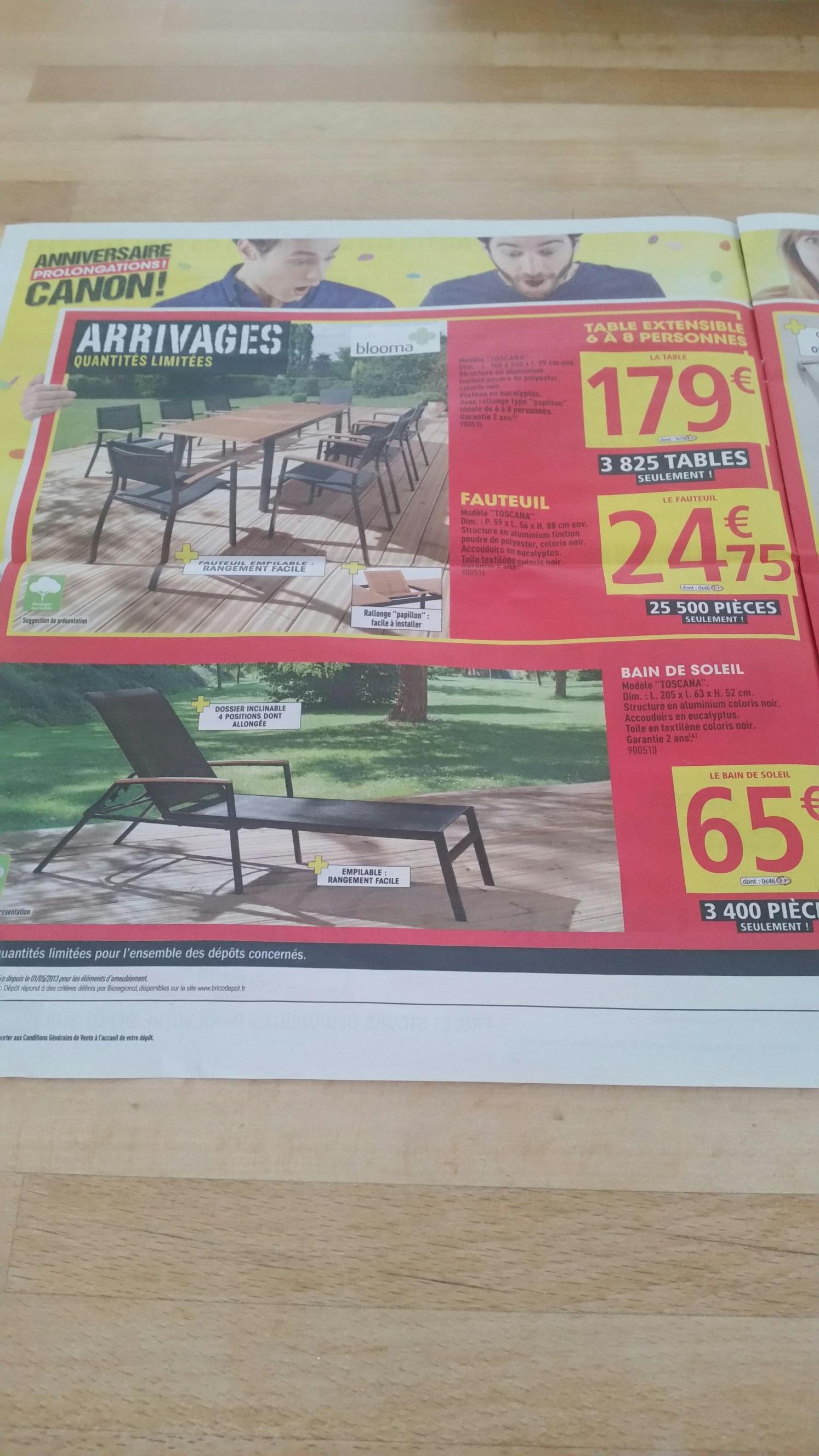table salon de jardin extensible 6 8 personnes 180 240cm x 99cm. Black Bedroom Furniture Sets. Home Design Ideas