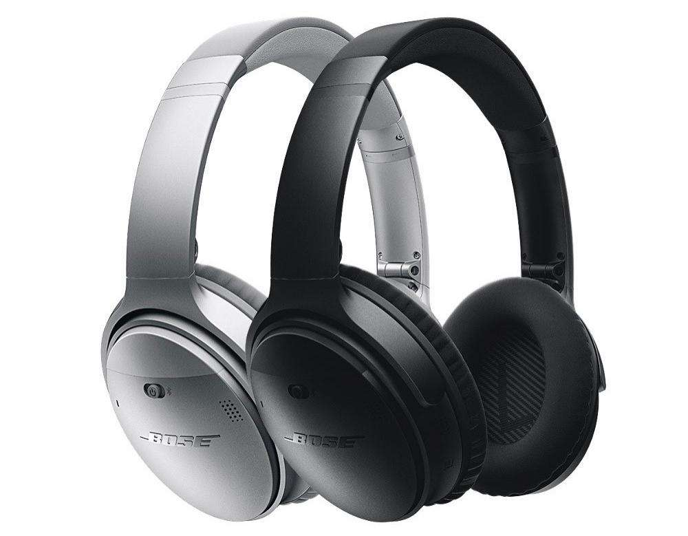 casque audio sans fil bose quietcomfort 35 noir et gris. Black Bedroom Furniture Sets. Home Design Ideas