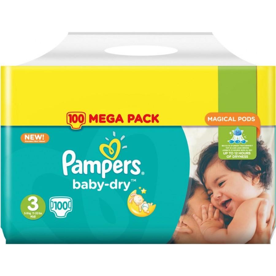 Mega pack de couches pampers baby dry tailles au choix via carte de fid lit bdr tf1 - Couche baby dry taille 3 ...