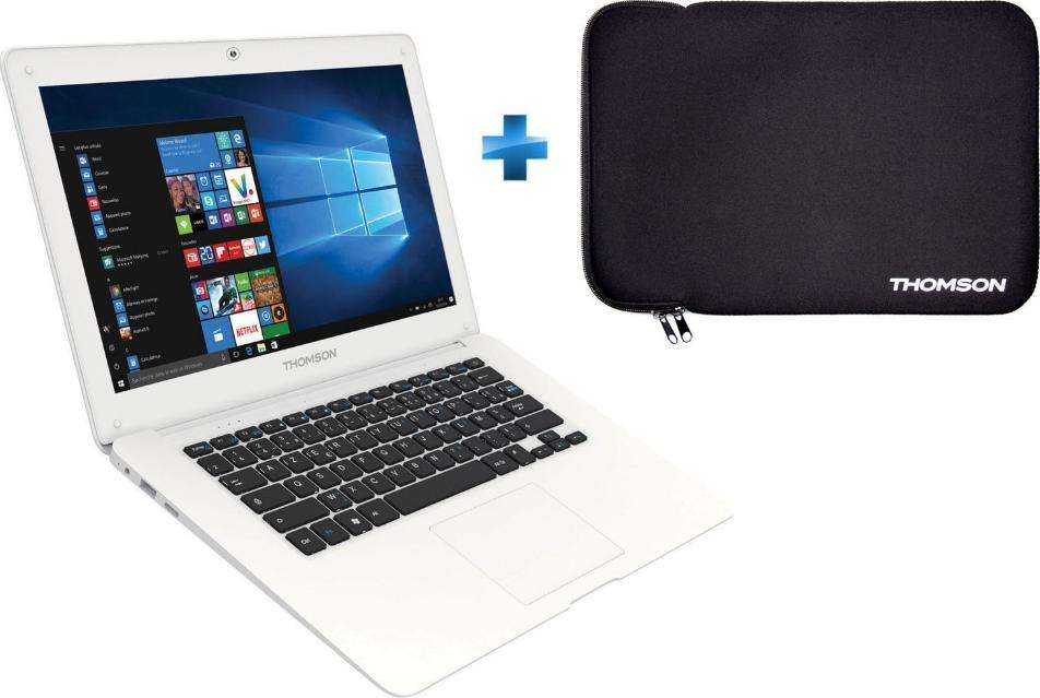 655f17601e2607 PC portable 14.1 Thomson Neo 14-2.32BS (Z3735F, 2 Go de RAM, 32 Go en eMMC)  + housse de transport – Dealabs.com