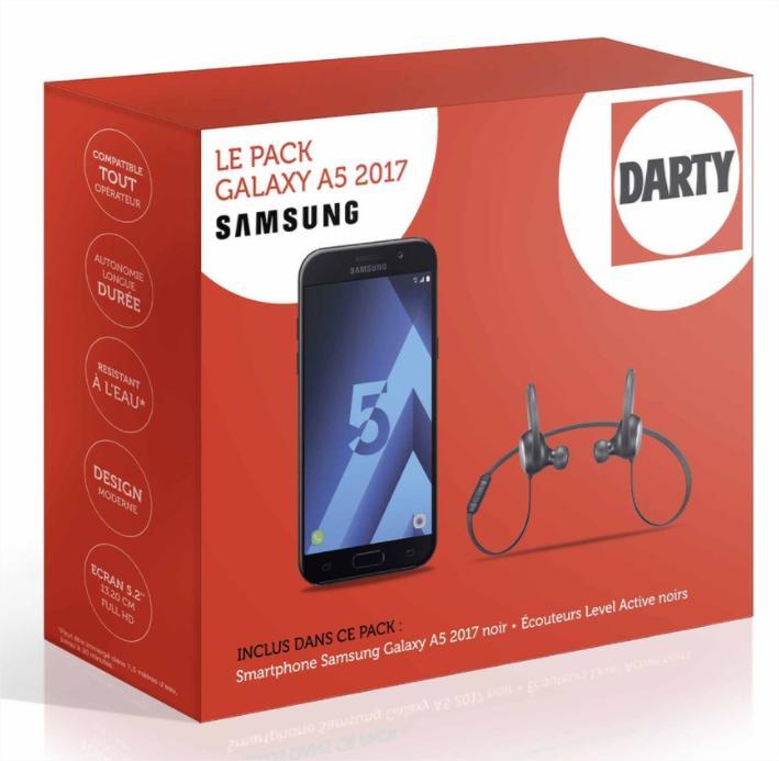 smartphone 5 2 samsung galaxy a5 2017 couteurs samsung level active avec odr 50. Black Bedroom Furniture Sets. Home Design Ideas