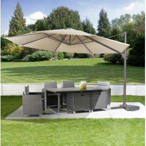 parasol excentr ronda 400 cm beige. Black Bedroom Furniture Sets. Home Design Ideas