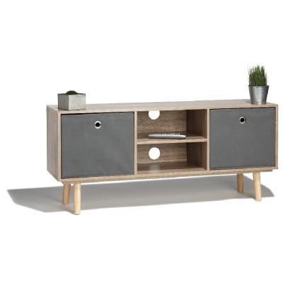 s lection de meubles scandinave en promotion ex meuble tv naturel et gris bilbao. Black Bedroom Furniture Sets. Home Design Ideas
