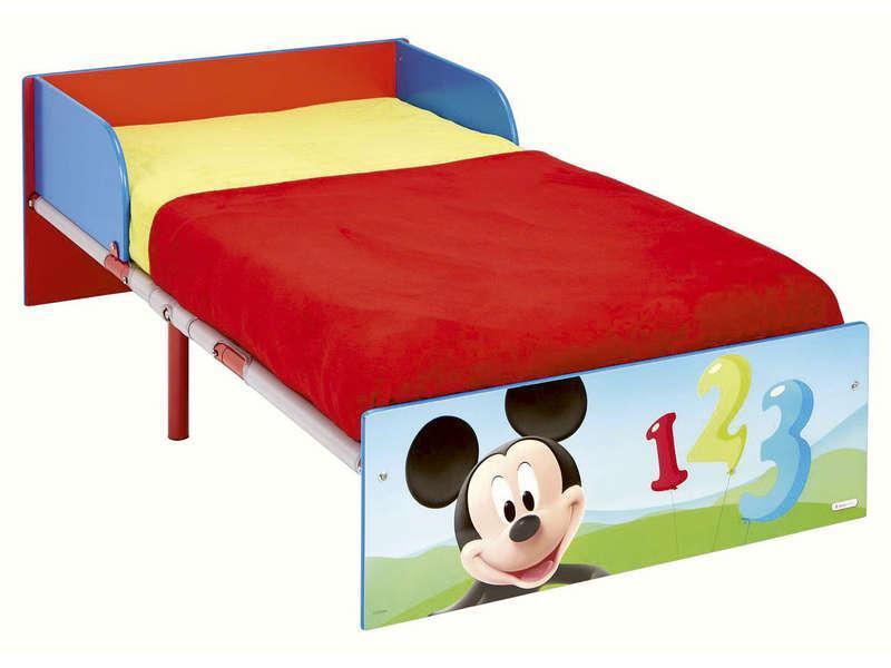 lit disney mickey mouse 70x140 cm. Black Bedroom Furniture Sets. Home Design Ideas