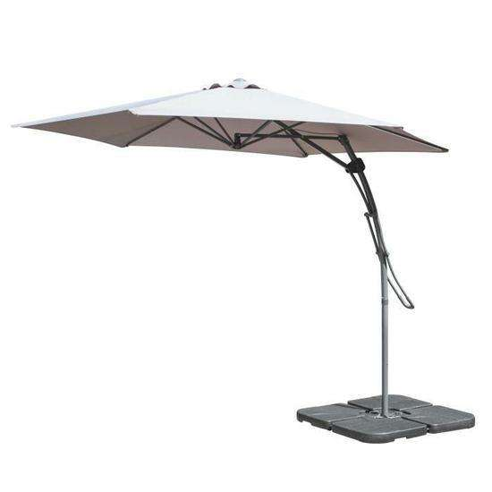 parasol d port pullman soled 3m led gris ou beige. Black Bedroom Furniture Sets. Home Design Ideas