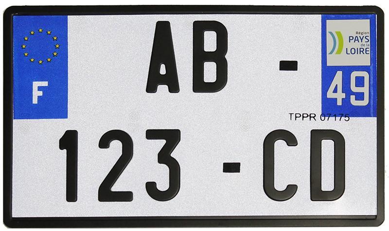 plaque d 39 immatriculation moto homologu e 210 x 130 mm. Black Bedroom Furniture Sets. Home Design Ideas