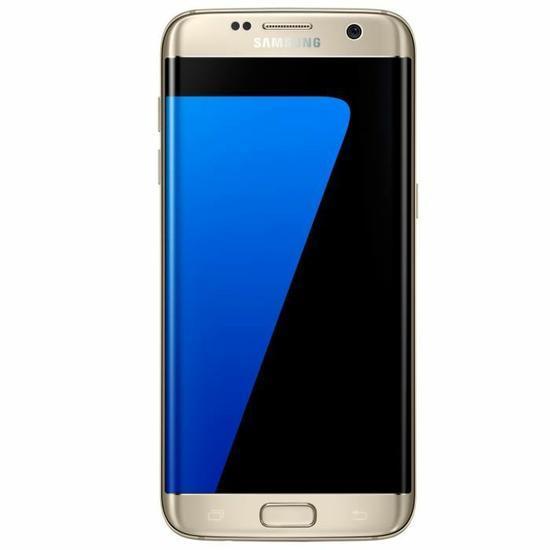 smartphone 5 5 samsung galaxy s7 edge 32 go or ou bleu. Black Bedroom Furniture Sets. Home Design Ideas