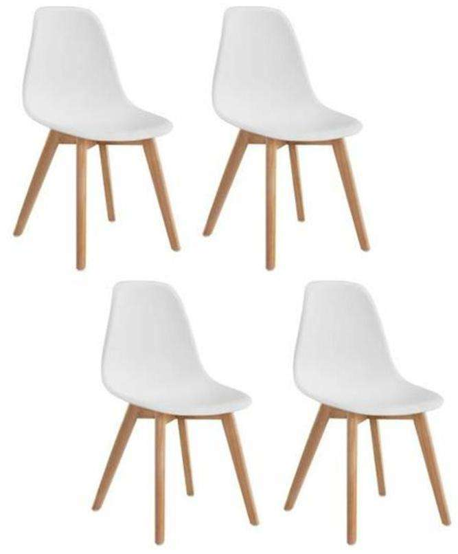 Lot 4 chaises scandinaves sacha for 4 chaises scandinaves