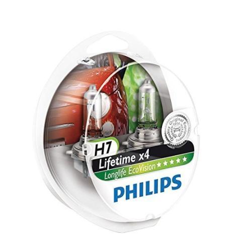 philips lot de 2 ampoules de phare longlife ecovision h7. Black Bedroom Furniture Sets. Home Design Ideas