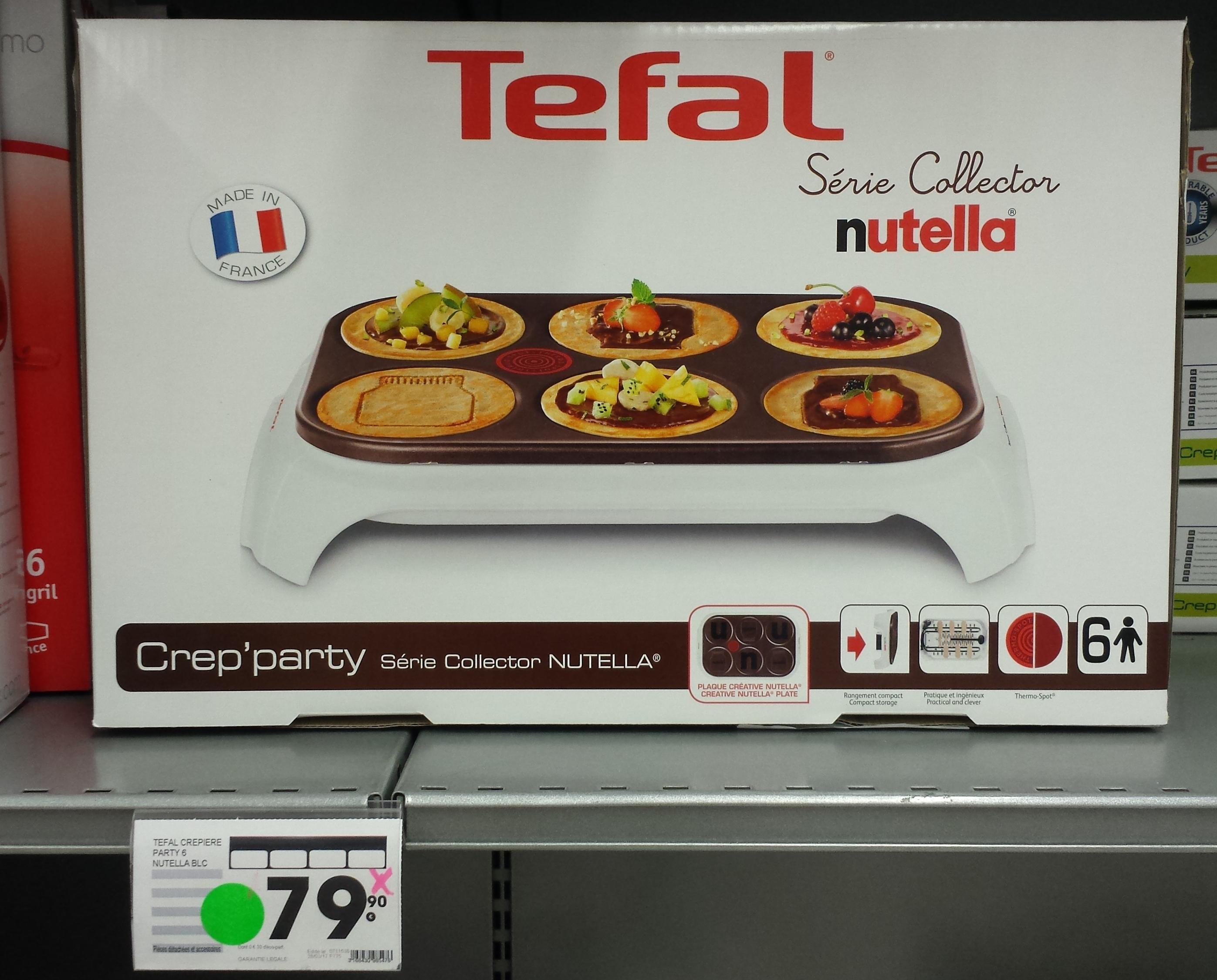 Cr pi re tefal crep 39 party nutella - Nutella tefal com jeux ...