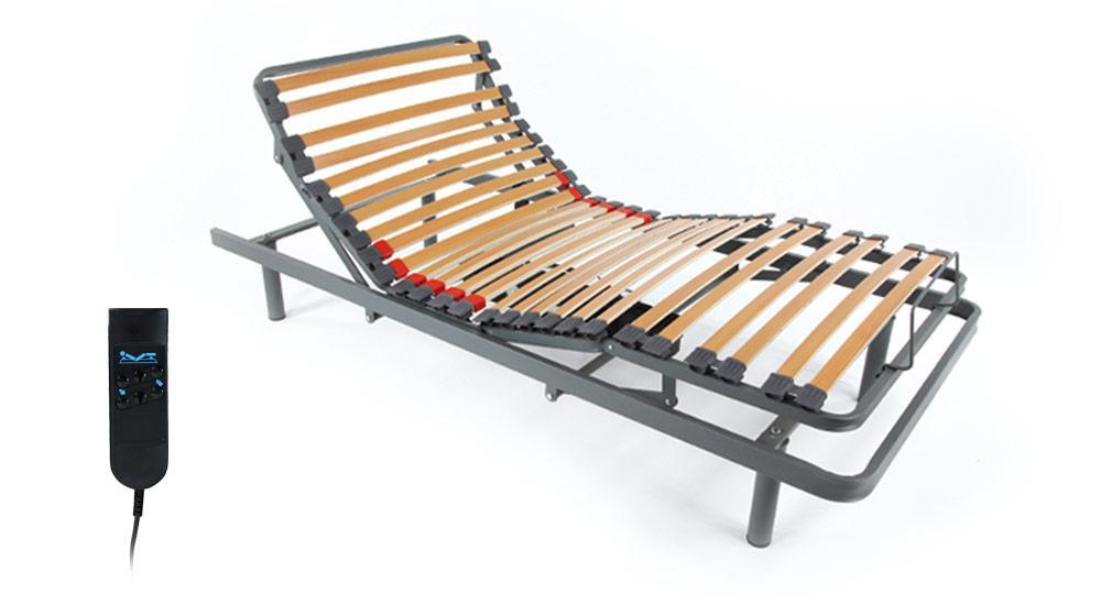 sommier articul electrique 160 190 pour deux matelas. Black Bedroom Furniture Sets. Home Design Ideas
