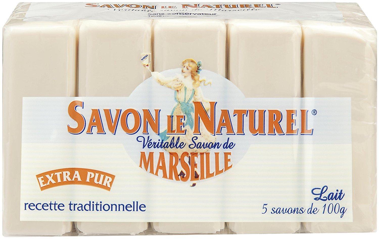 Panier plus lot de 5 savons le naturel x 100 g - Savon de marseille veritable ...